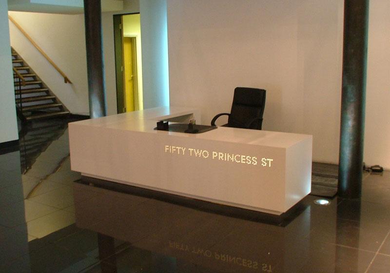 bespoke office furniture custom made reception desks
